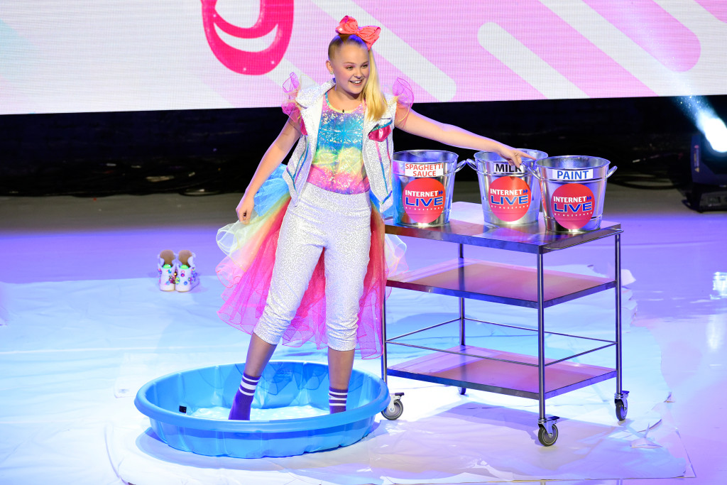 NEW YORK, NEW YORK - JULY 25: JoJo Siwa speaks onstage during Internet Live By BuzzFeed at Webster Hall on July 25, 2019 in New York City. (Photo by Eugene Gologursky/Getty Images for BuzzFeed)