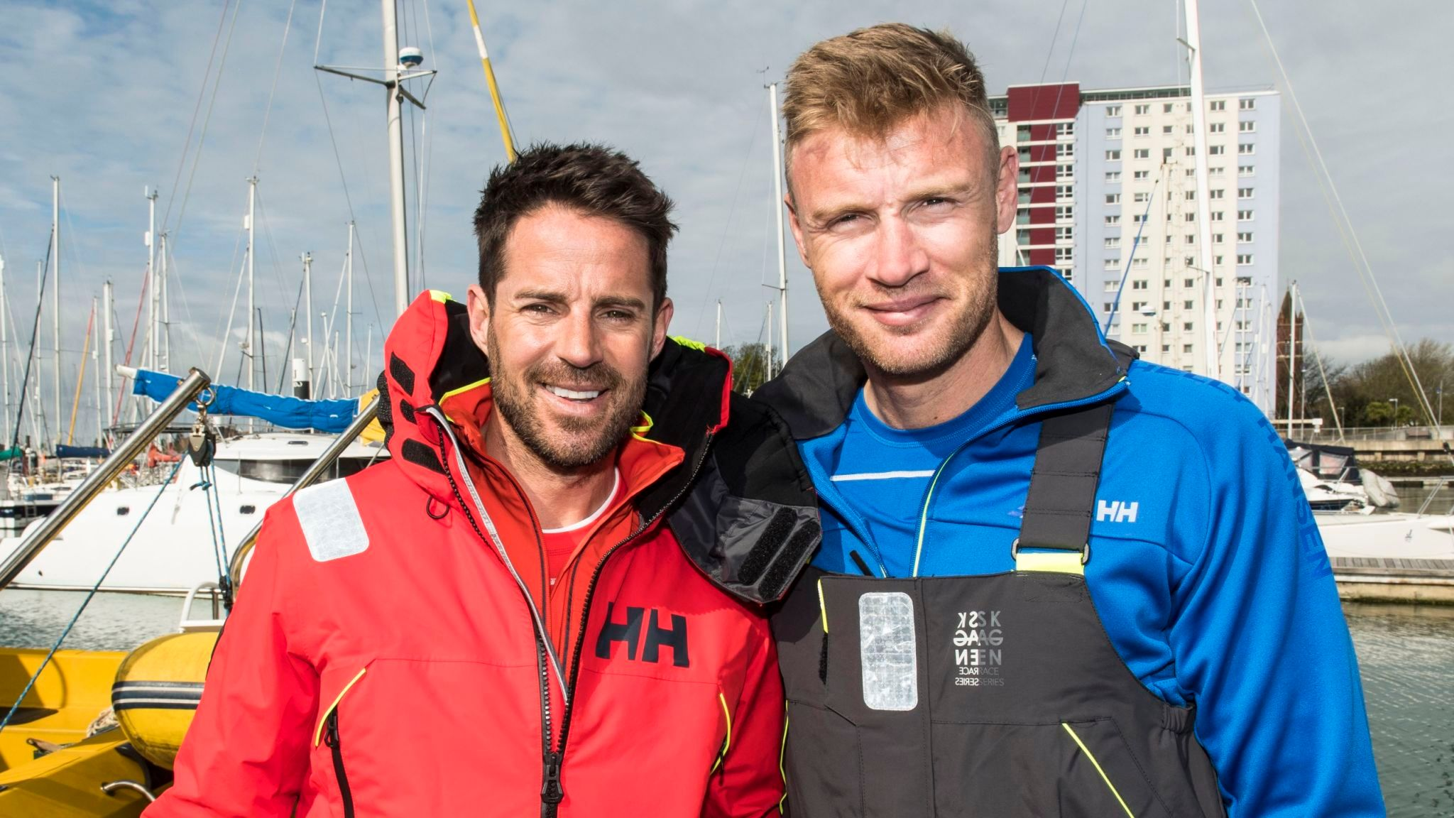 Jamie Redknapp and Freddie Flintoff set off on the A League Of Their Own European Road Trip: Pic: ©Sky UK Ltd