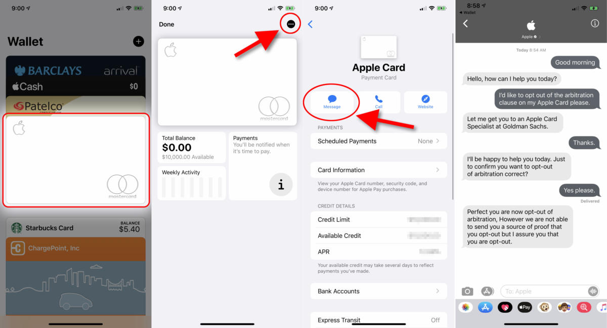 apple card arbitration optout