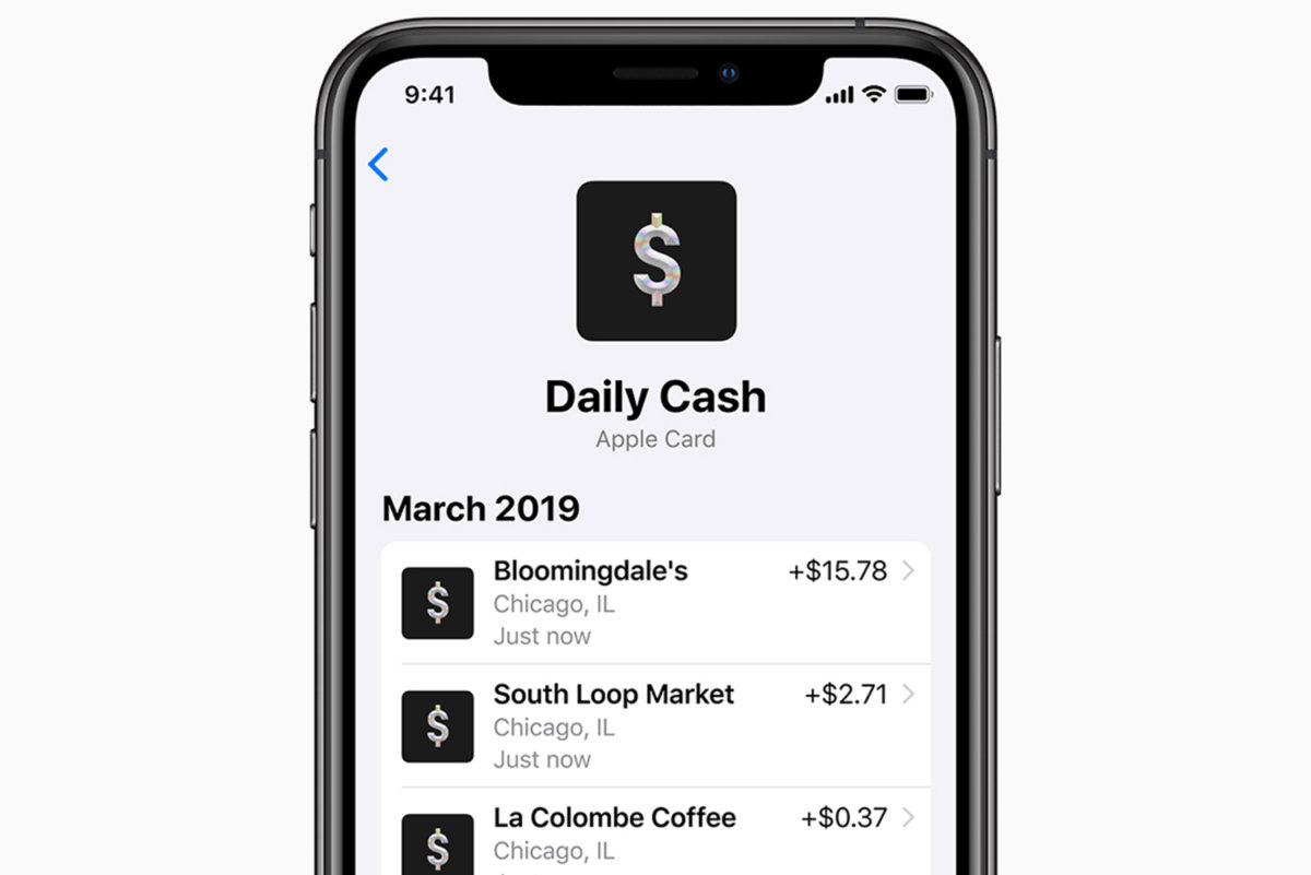 apple card daily cash