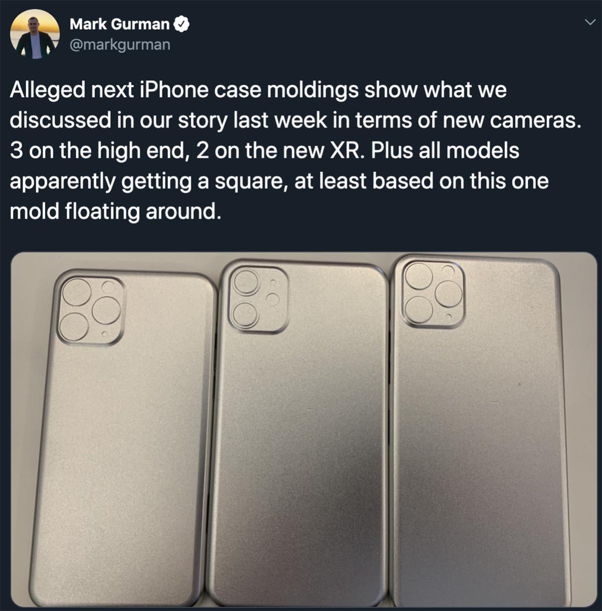 gurman tweet moldings