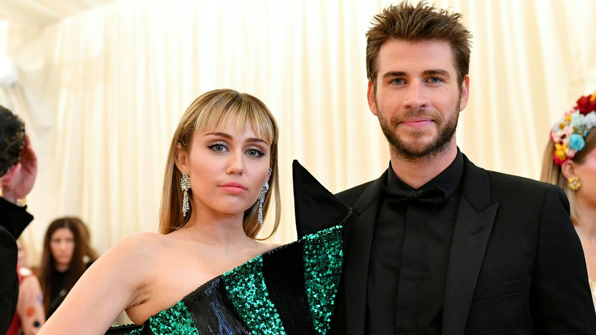 miley Cyrus and Liam Hemsworth attend The 2019 Met Gala Celebrating Camp: Notes On Fashion at The Metropolitan Museum of Art on May 06, 2019 in New York City