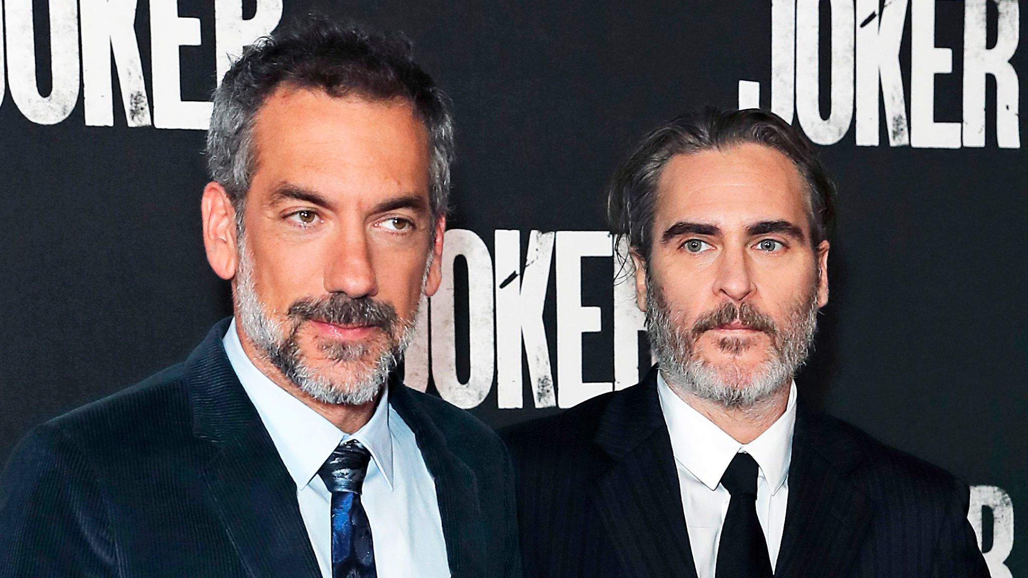 Todd Phillips (left) and Joaquin Phoenix attend a special screening of Joker at Cineworld Leicester Square on September 25, 2019 in London