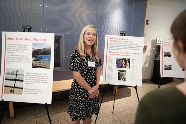 Darlene Cavalier presenting about citizen science