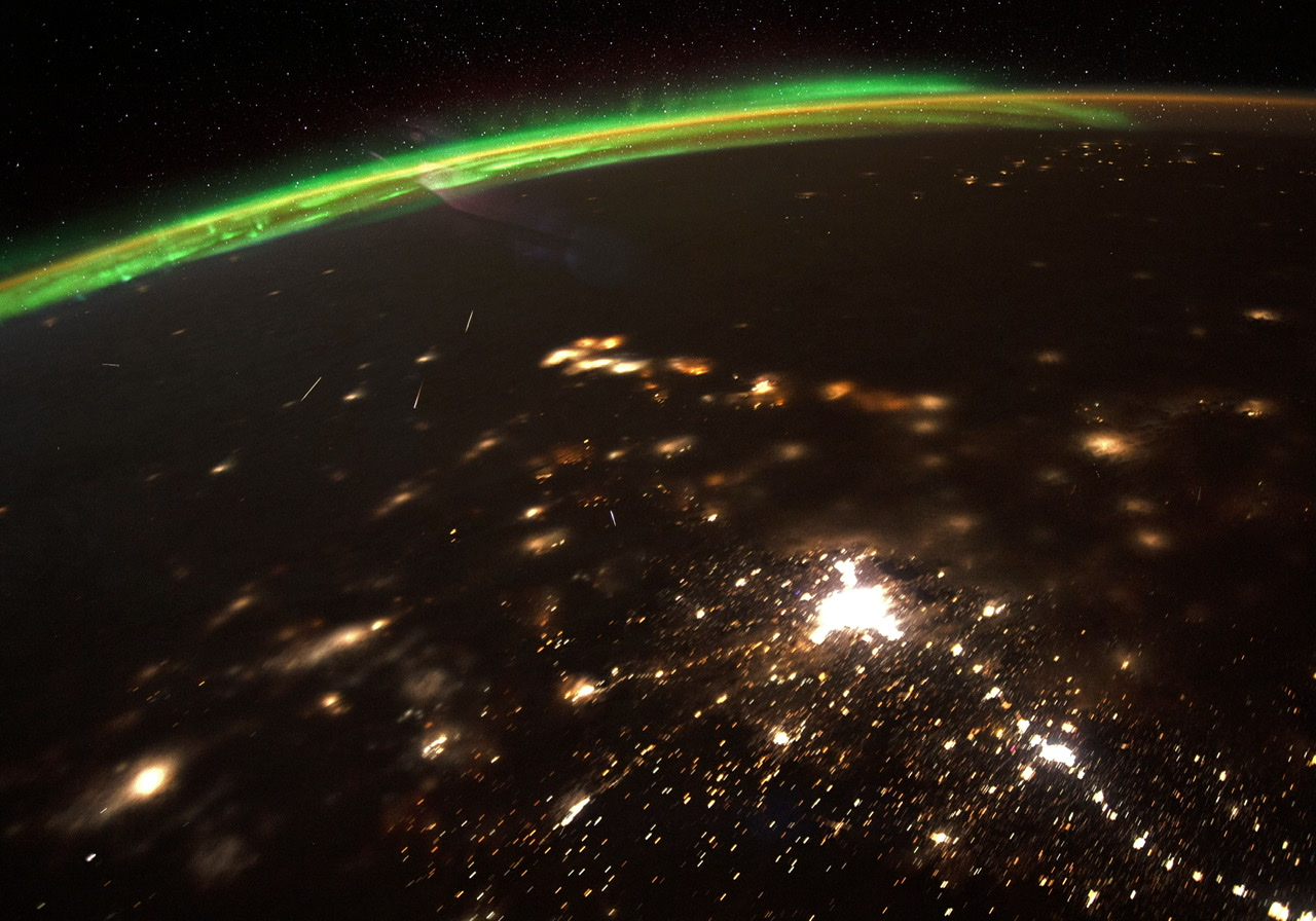 Meteor Shower as Seen From Space