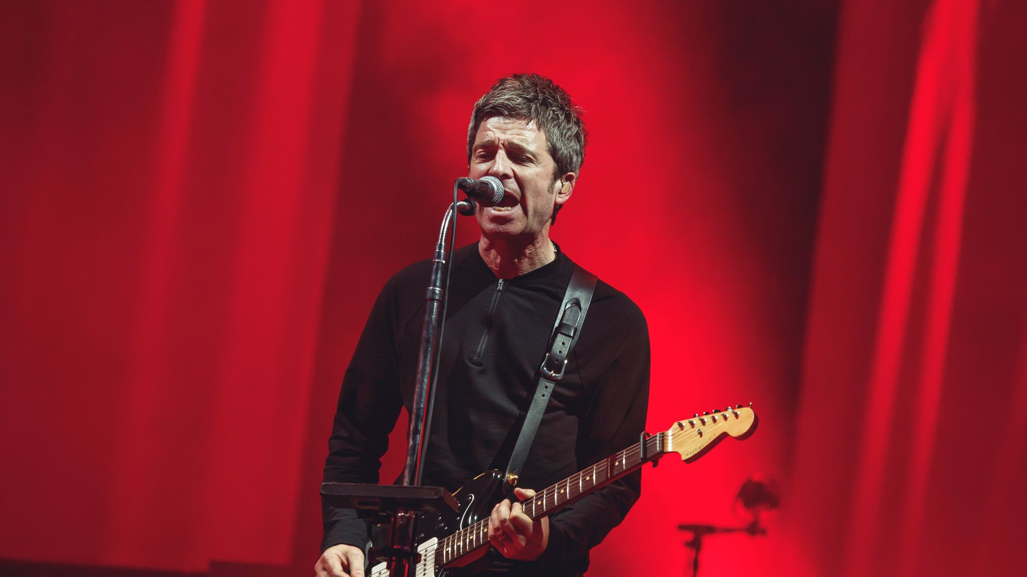 MADRID, SPAIN - JULY 11: Noel Gallagher from the band High Flying Birds perfoms on stage a Madcool Festival on July 11, 2019 in Madrid, Spain. (Photo by Javier Bragado/WireImage)