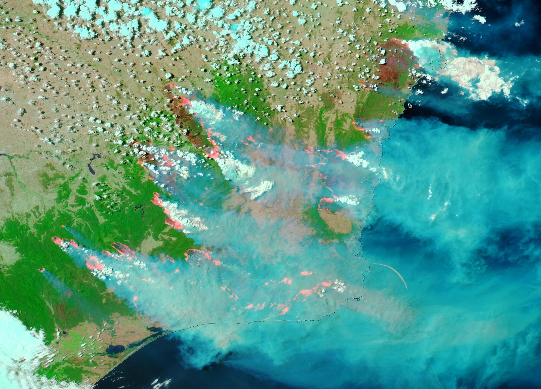 Australian Bushfires Seen From Space