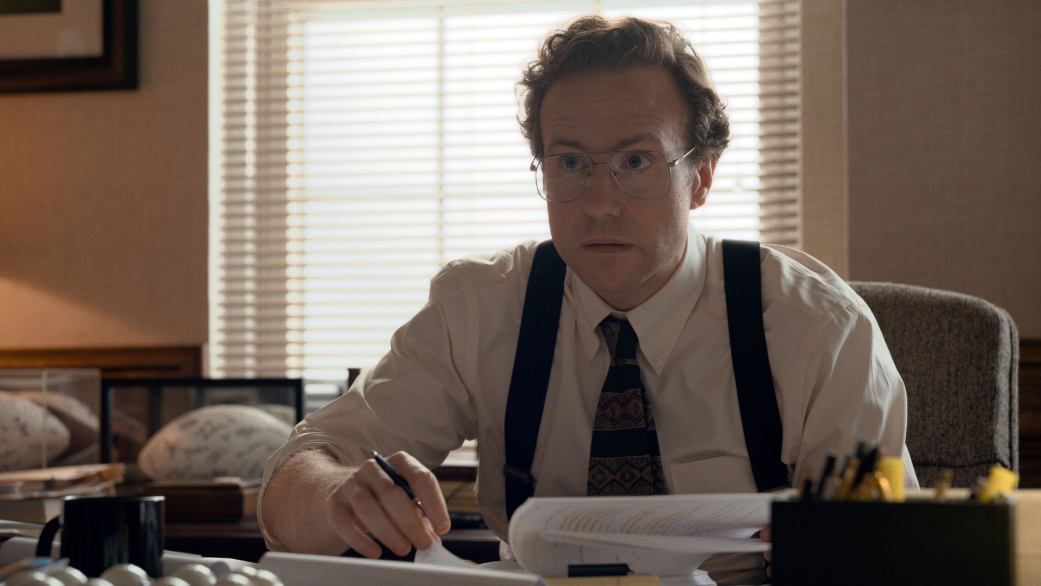 Rafe Spall as Tommy Chapman in Just Mercy. Pic: Warner Bros Entertainment Inc