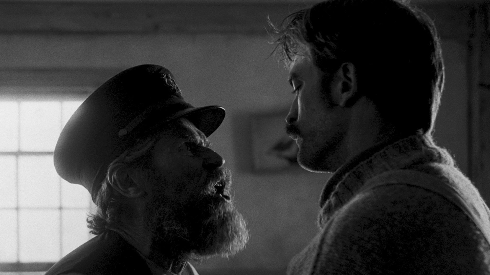 Willem Dafoe and Robert Pattinson in The Lighthouse. Pic. Universal