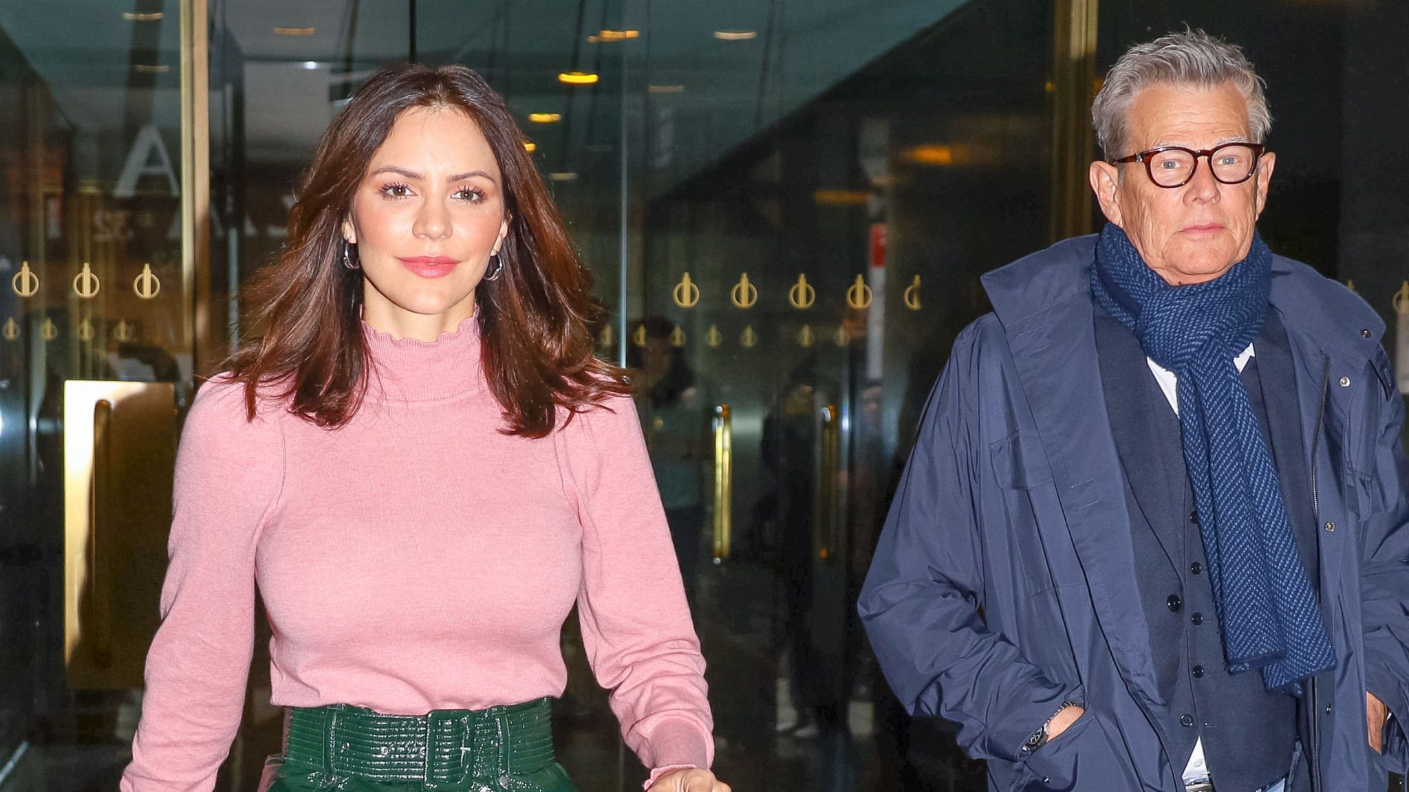 Katharine McPhee and David Foster are seen on November 19, 2019 in New York City