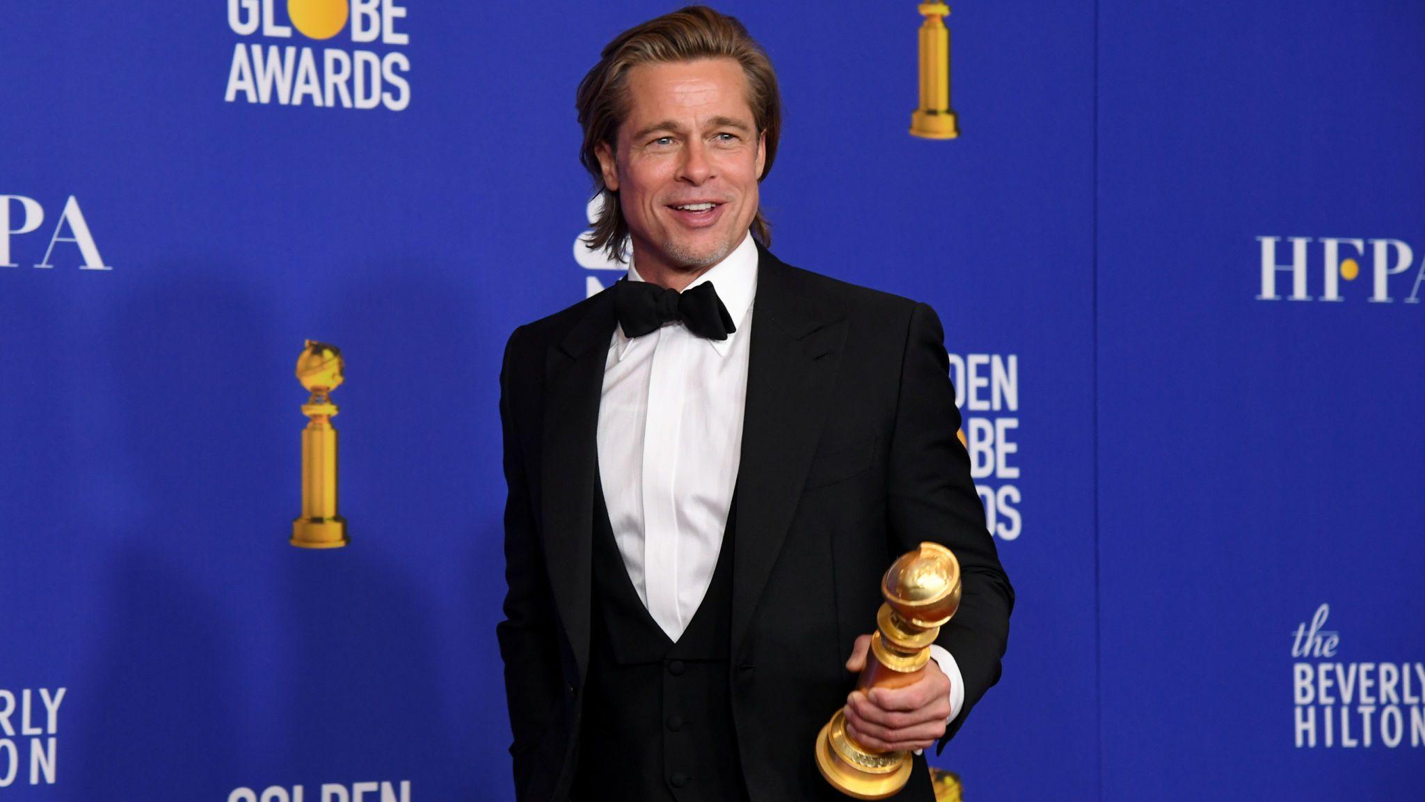Golden Globes 2020 best supporting actor Brad Pitt