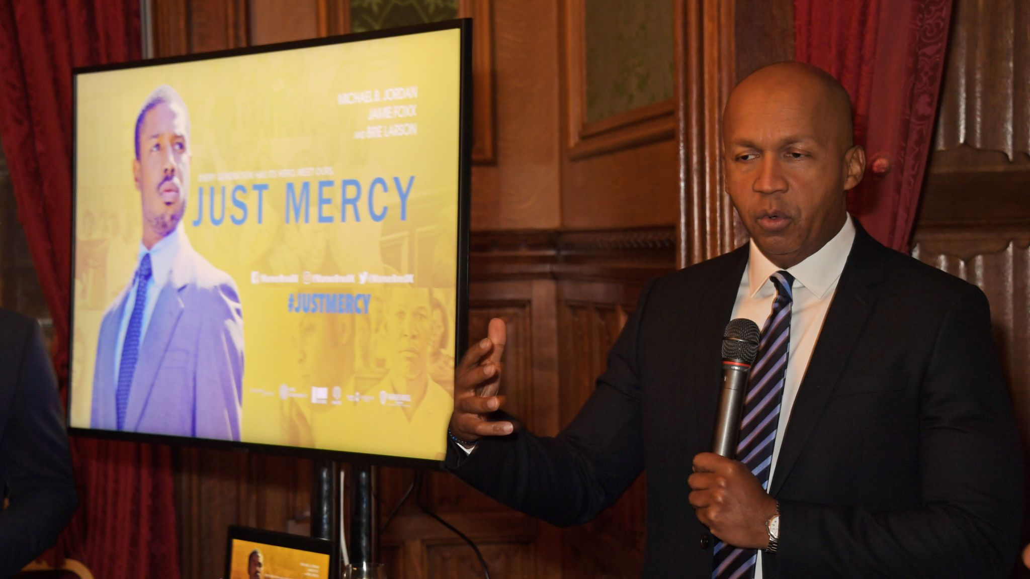Bryan Stevenson attends an evening at the House Of Lords for the film Just Mercy on January 14, 2020 in London