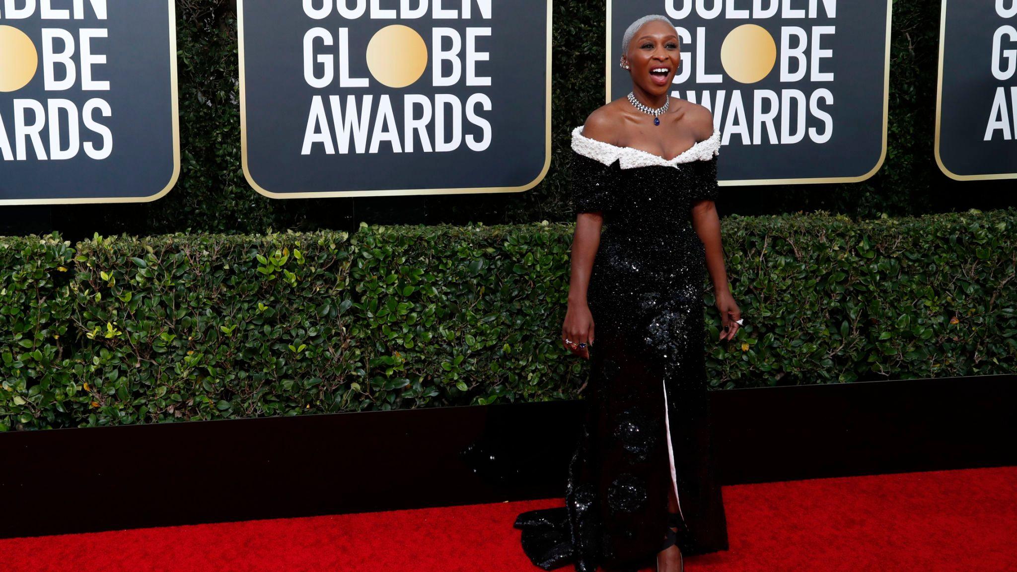 Cynthia Erivo at the Golden Globes
