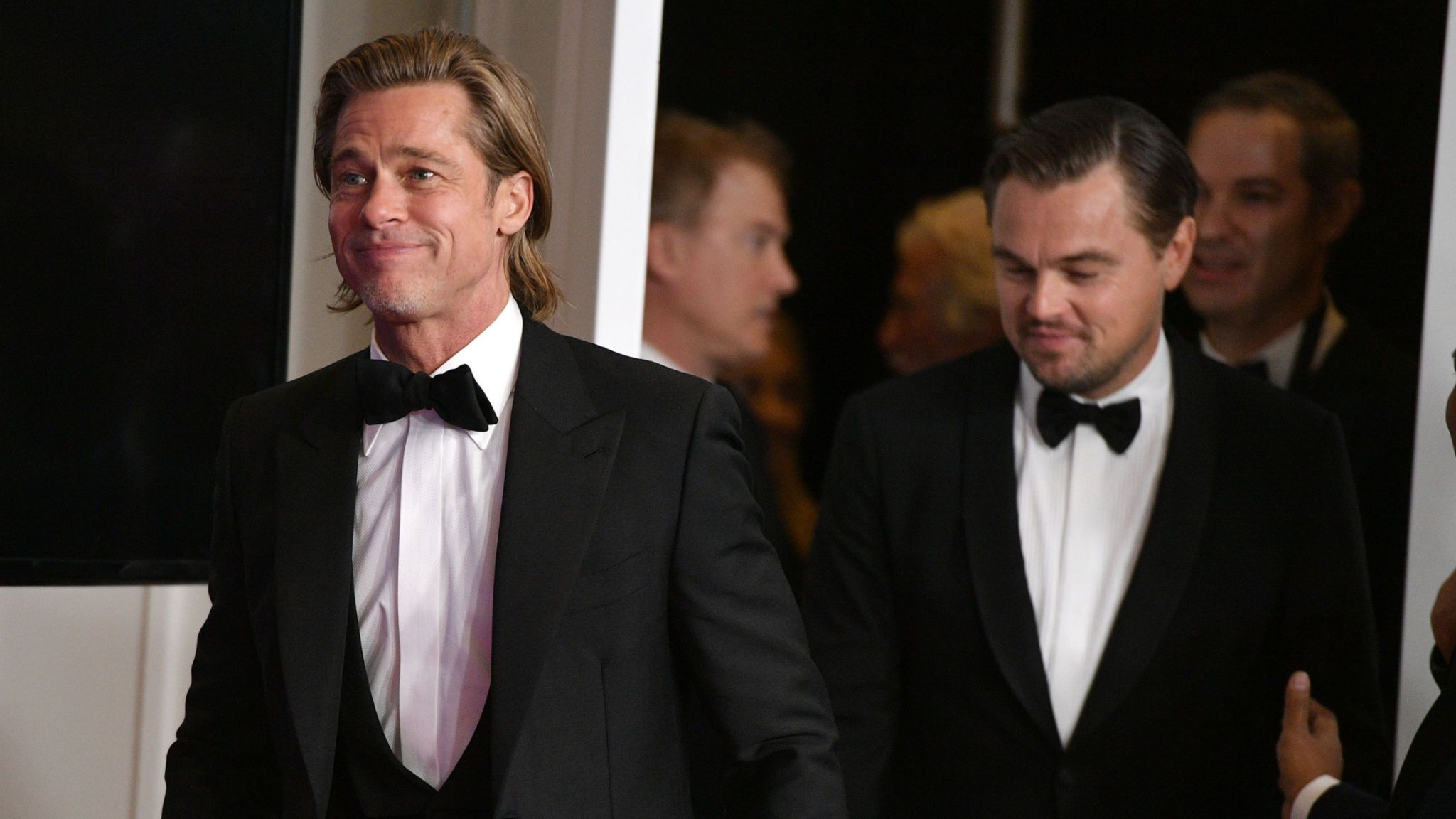 Brad Pitt and Leonardo DiCaprio at the Golden Globes 2020