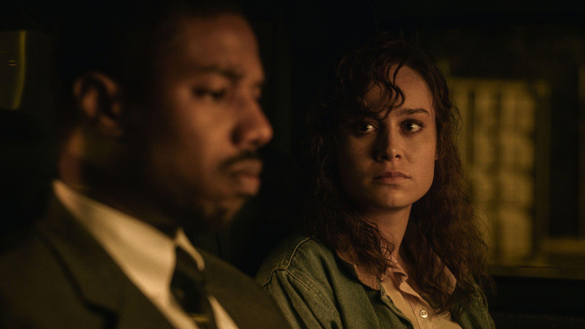 Michael B Jordan and Brie Larson in Just Mercy. Pic: Warner Bros Entertainment Inc