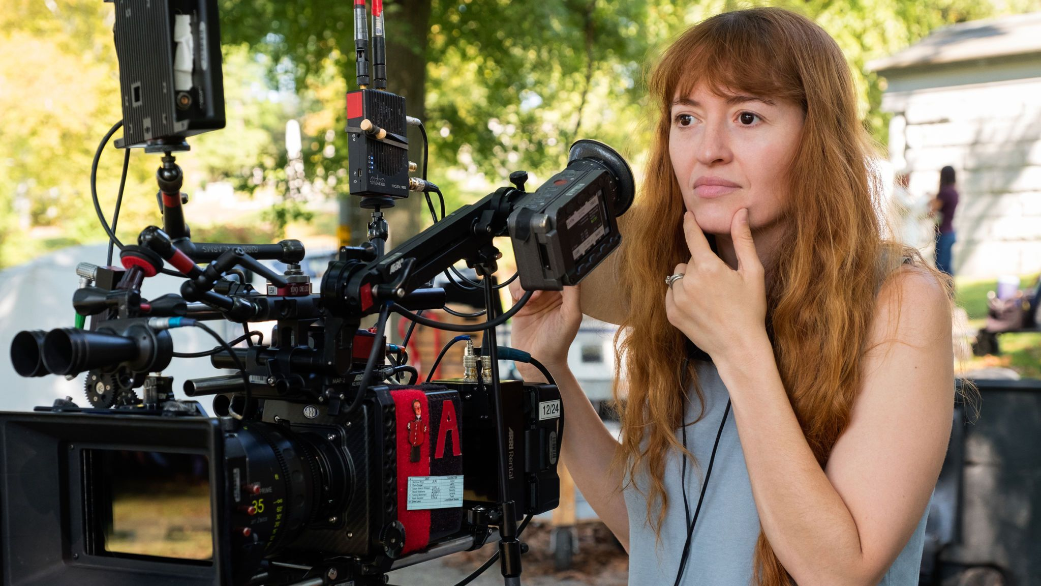 Director Marielle Heller on the set of TriStar Pictures' A BEAUTIFUL DAY IN THE NEIGHBORHOOD.