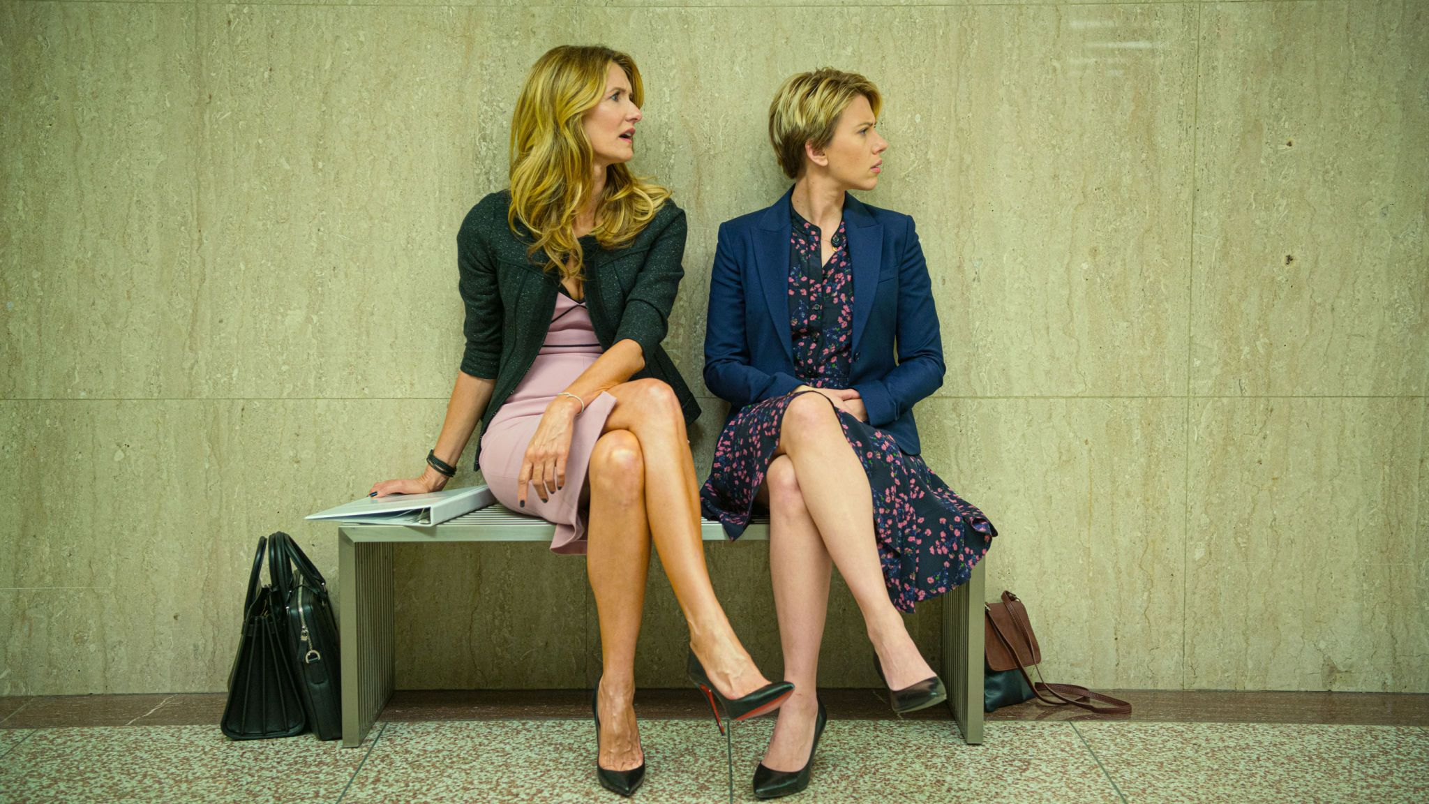 Laura Dern and Scarlett Johansson in Noah Baumbach's Marriage Story. Pic: Netflix