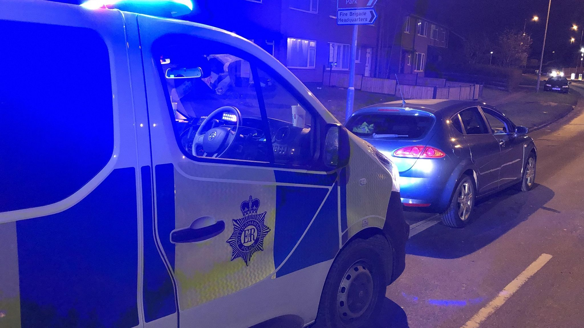 Officers pulled over the car on Tuesday. Pic: Nottinghamshire Police