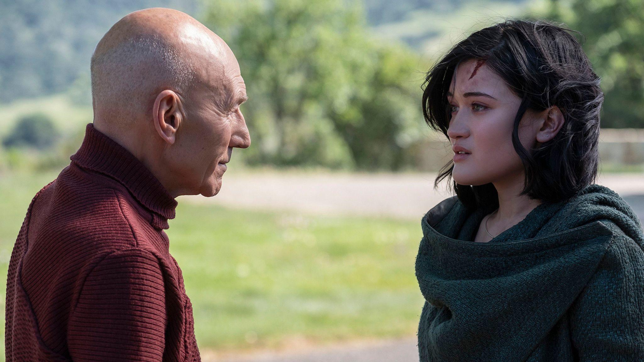 Patrick Stewart as Jean-Luc Picard; Isa Briones as Dahj