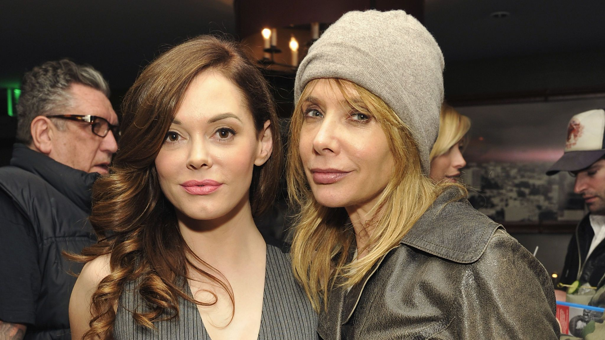 Rose McGowan and Rosanna Arquette pictured together in 2012