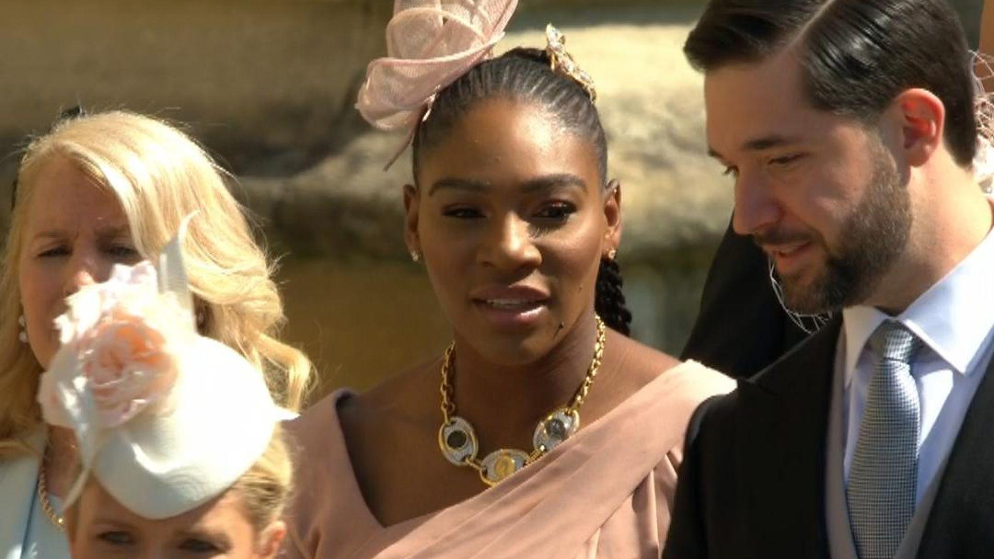 Serena Williams arrives at royal wedding
