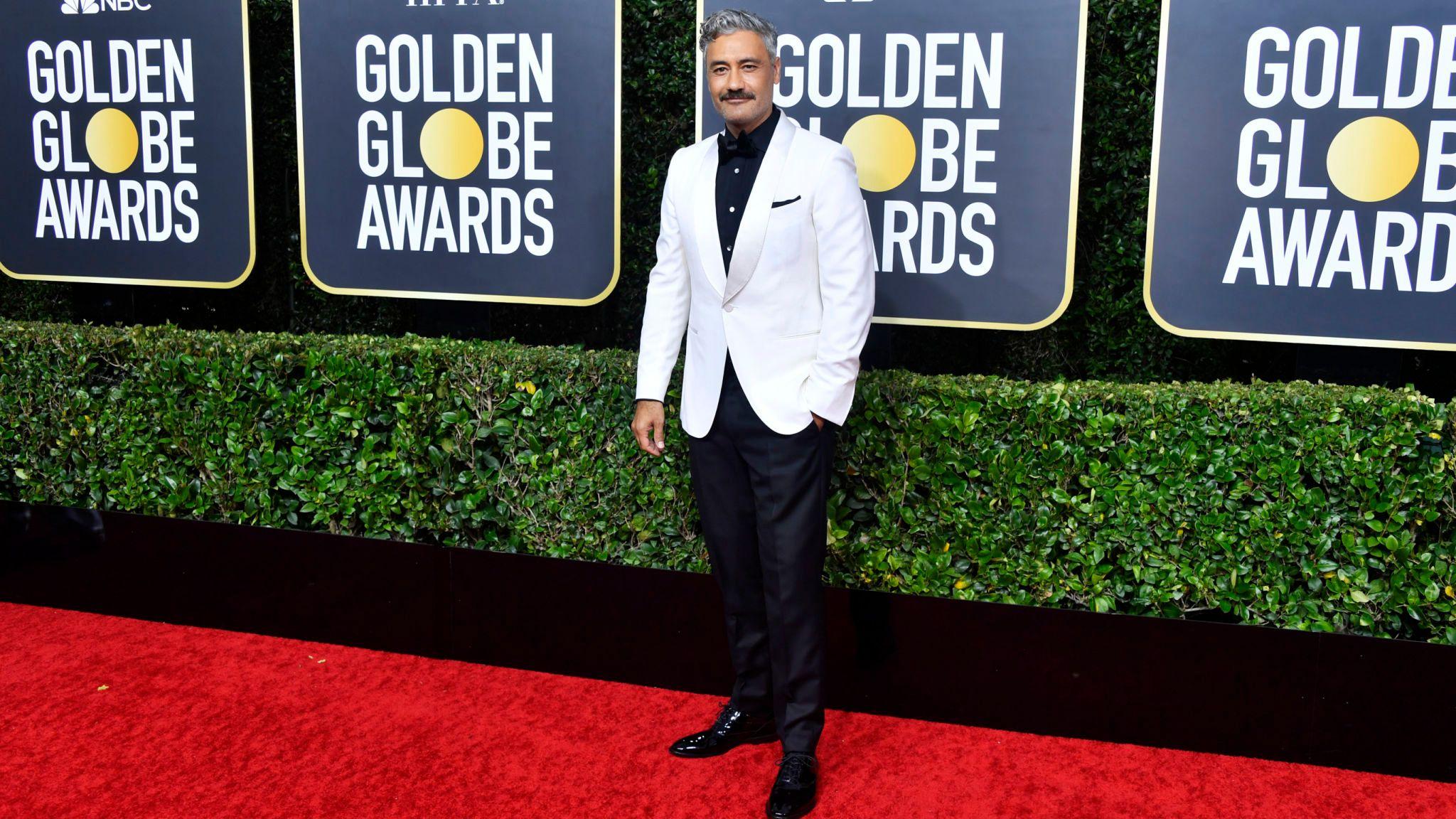 Taika Waititi at the Golden Globes 2020