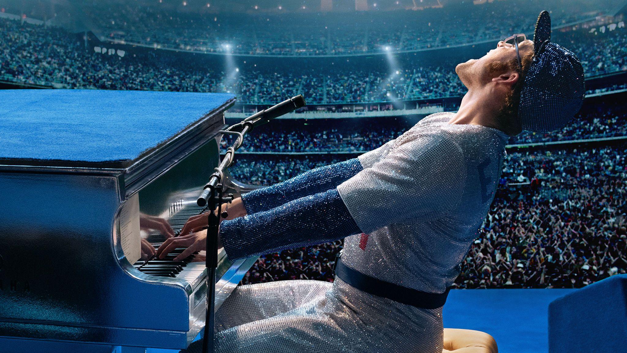 Taron Egerton as Elton John in Rocketman from Paramount Pictures.