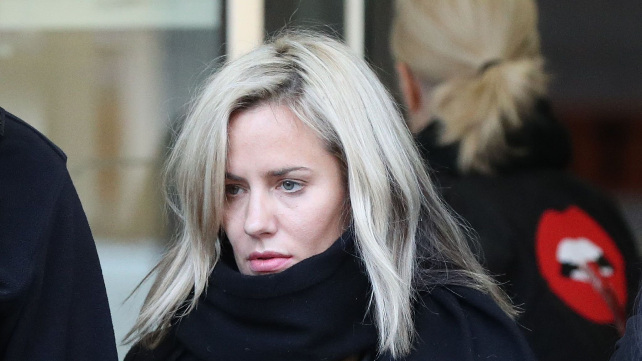 Caroline Flack leaves Highbury Corner Magistrates' Court where she plead not guilty to assaulting boyfriend Lewis Burton.
