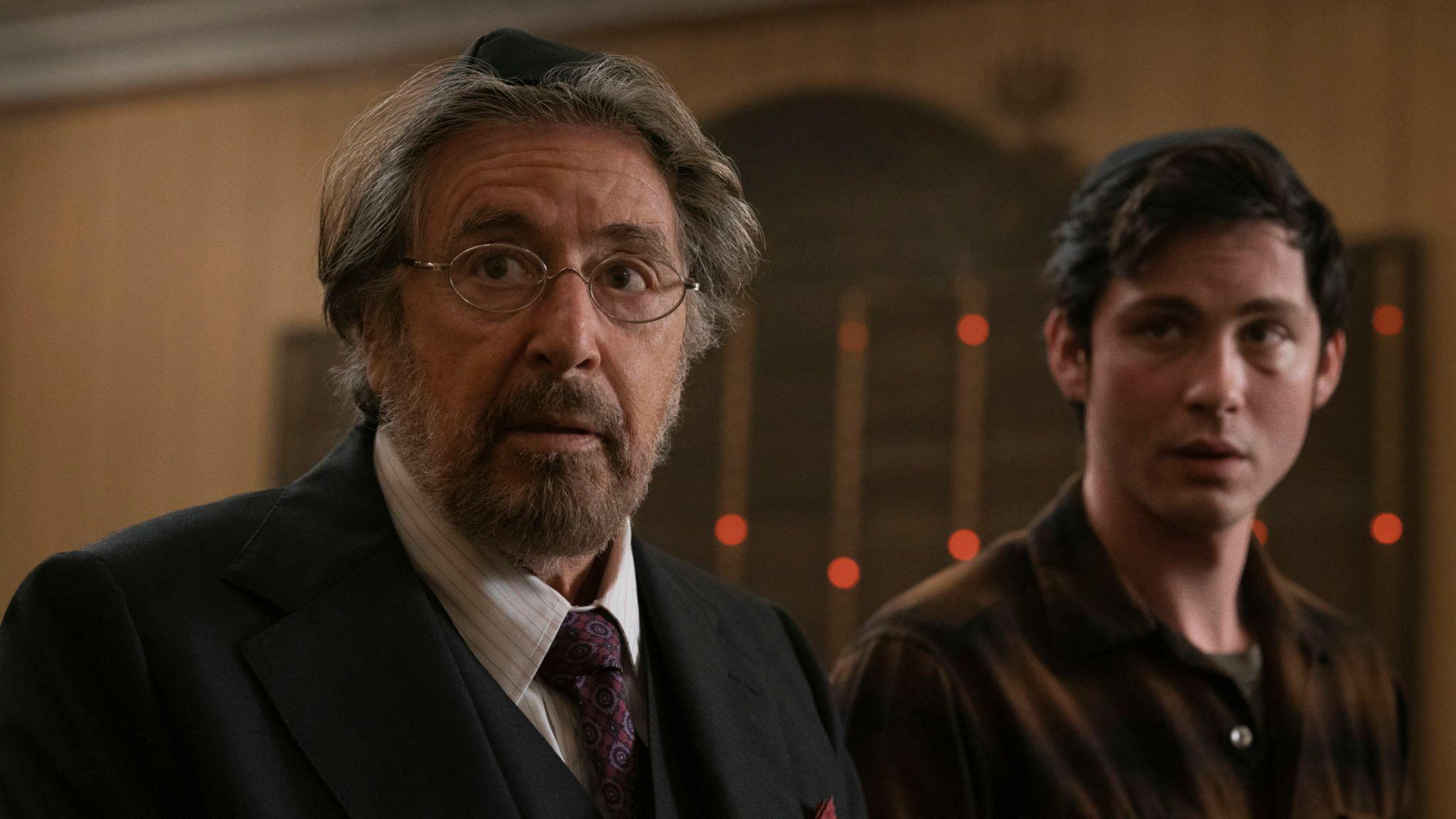 Al Pacino and Logan Lerman star in Hunters. Pic: Amazon Prime Video