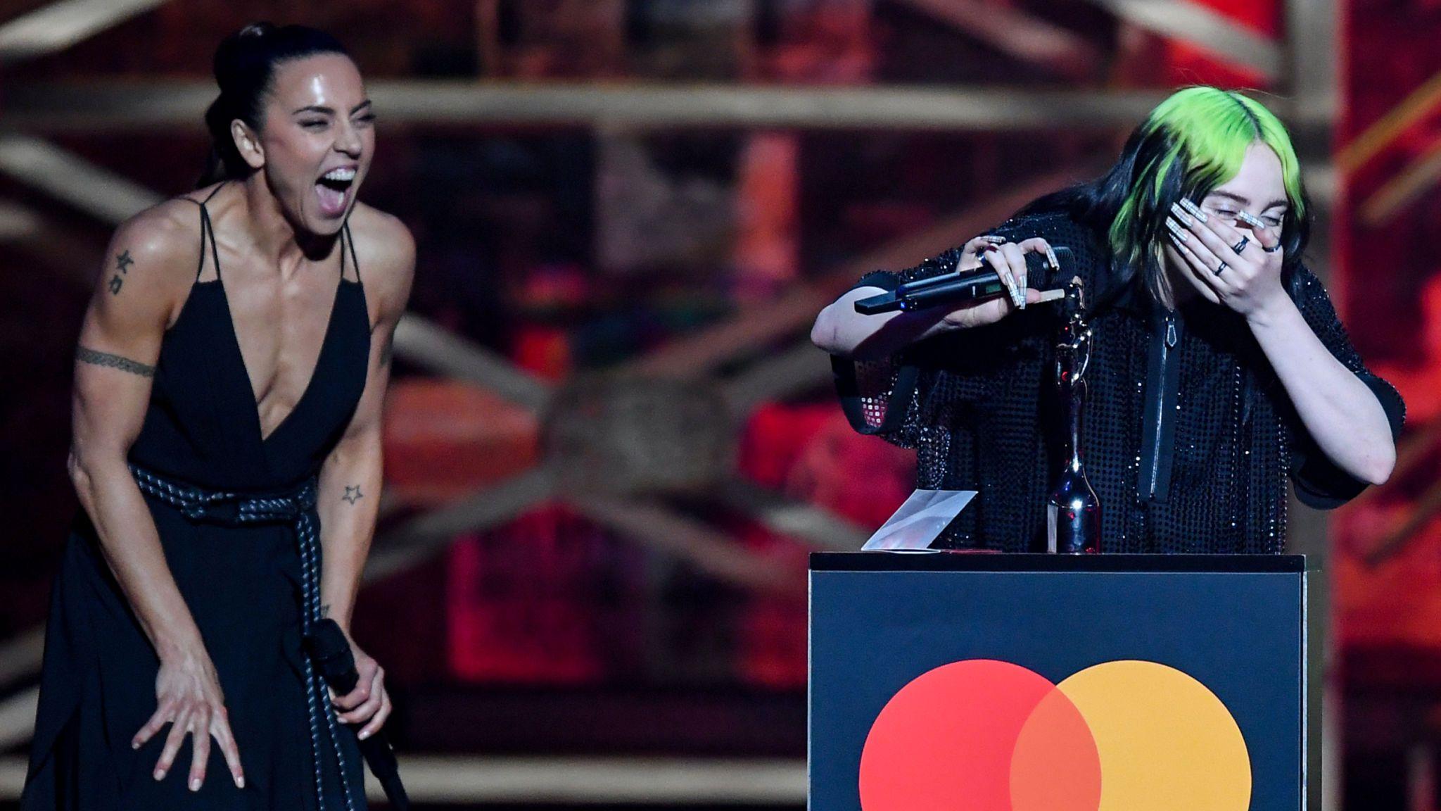 Billie Eilish accepted her best international solo female artist from Mel C