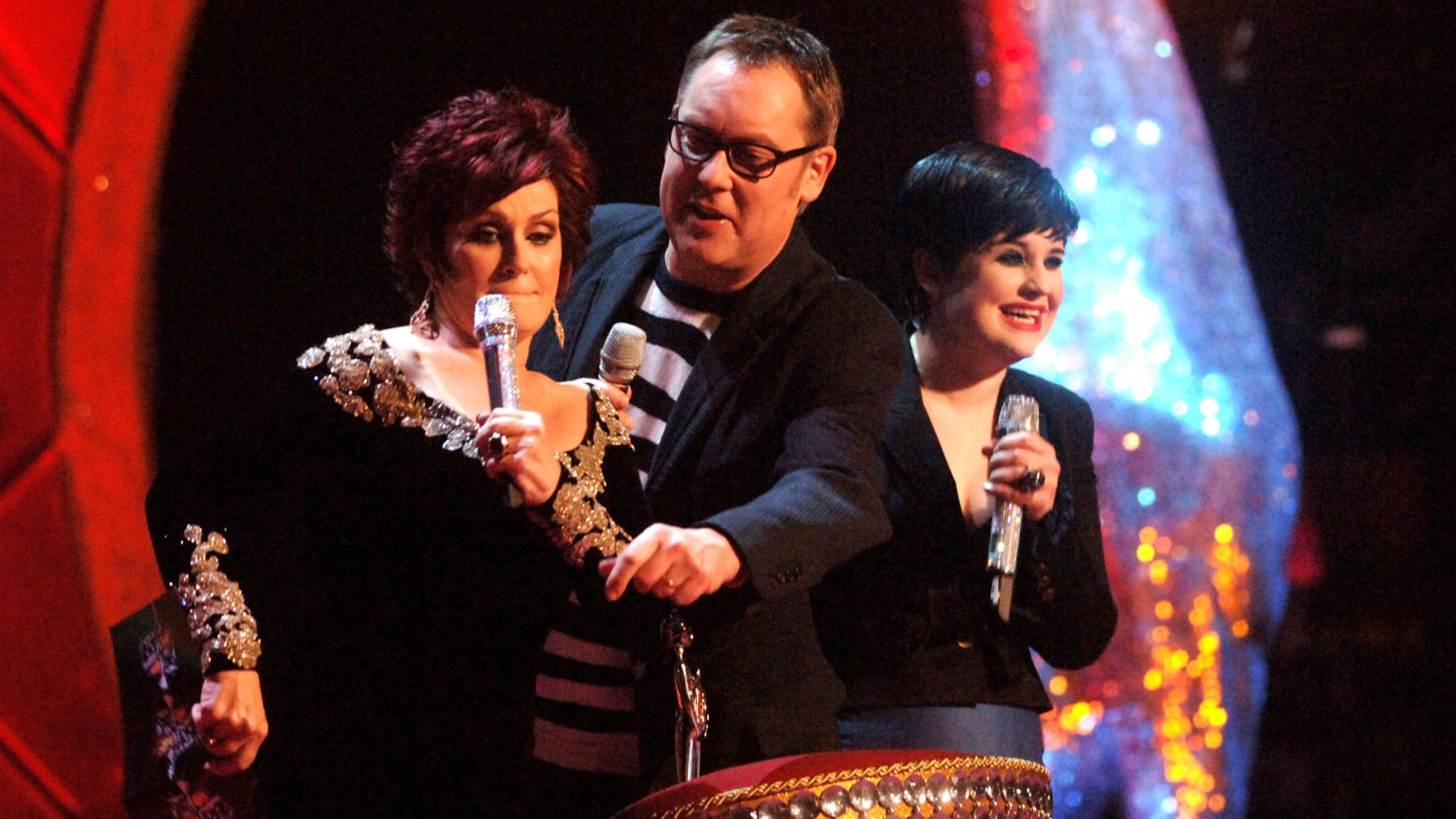 Vic Reeves, Sharon and Kelly Osbourne in 2008