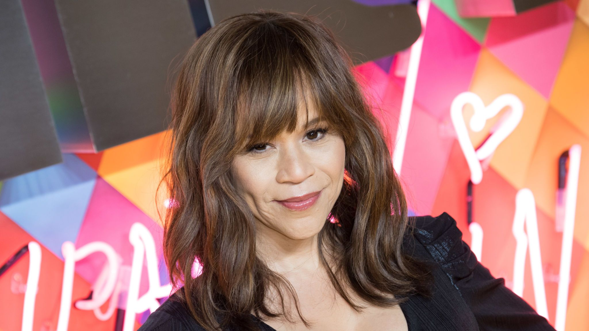 """LONDON, ENGLAND - JANUARY 29: Rosie Perez attends the """"Birds of Prey: And the Fantabulous Emancipation Of One Harley Quinn"""" World Premiere at the BFI IMAX on January 29, 2020 in London, England. (Photo by Jeff Spicer/Getty Images)"""