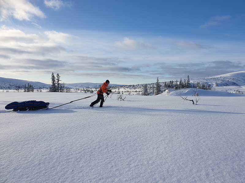 After training for more than a year, Alison Reynolds skied 125 miles over nine days in Norway. MUST CREDIT: Photo courtesy of Alison Reynolds