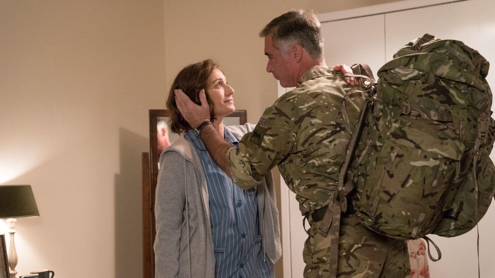 Kristin Scott Thomas stars in Military Wives. Pic: Lionsgate