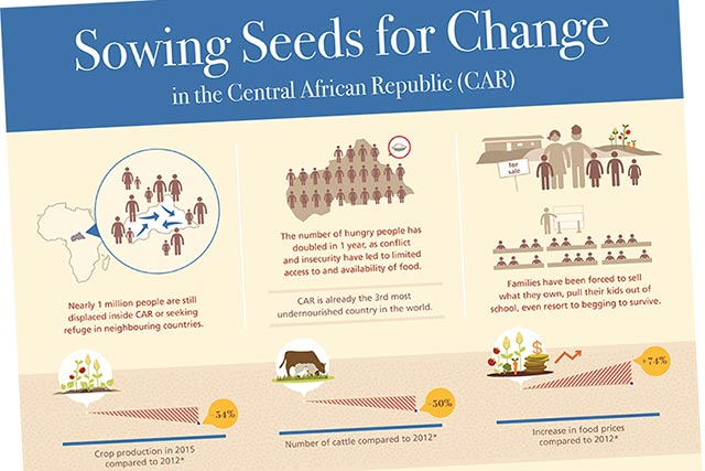 Sowing seeds for change in the Central African Republic - INFOGRAPHIC