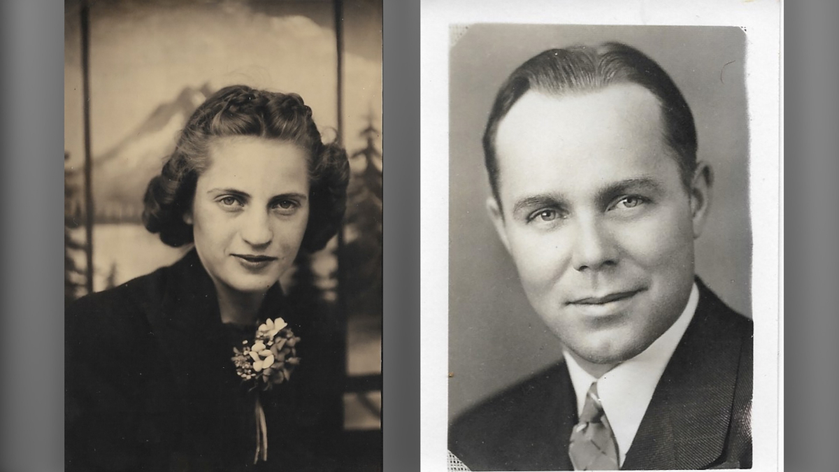 Lucille Ellson and her husband, Floyd, when she and Floyd were dating. MUST CREDIT: Family photo