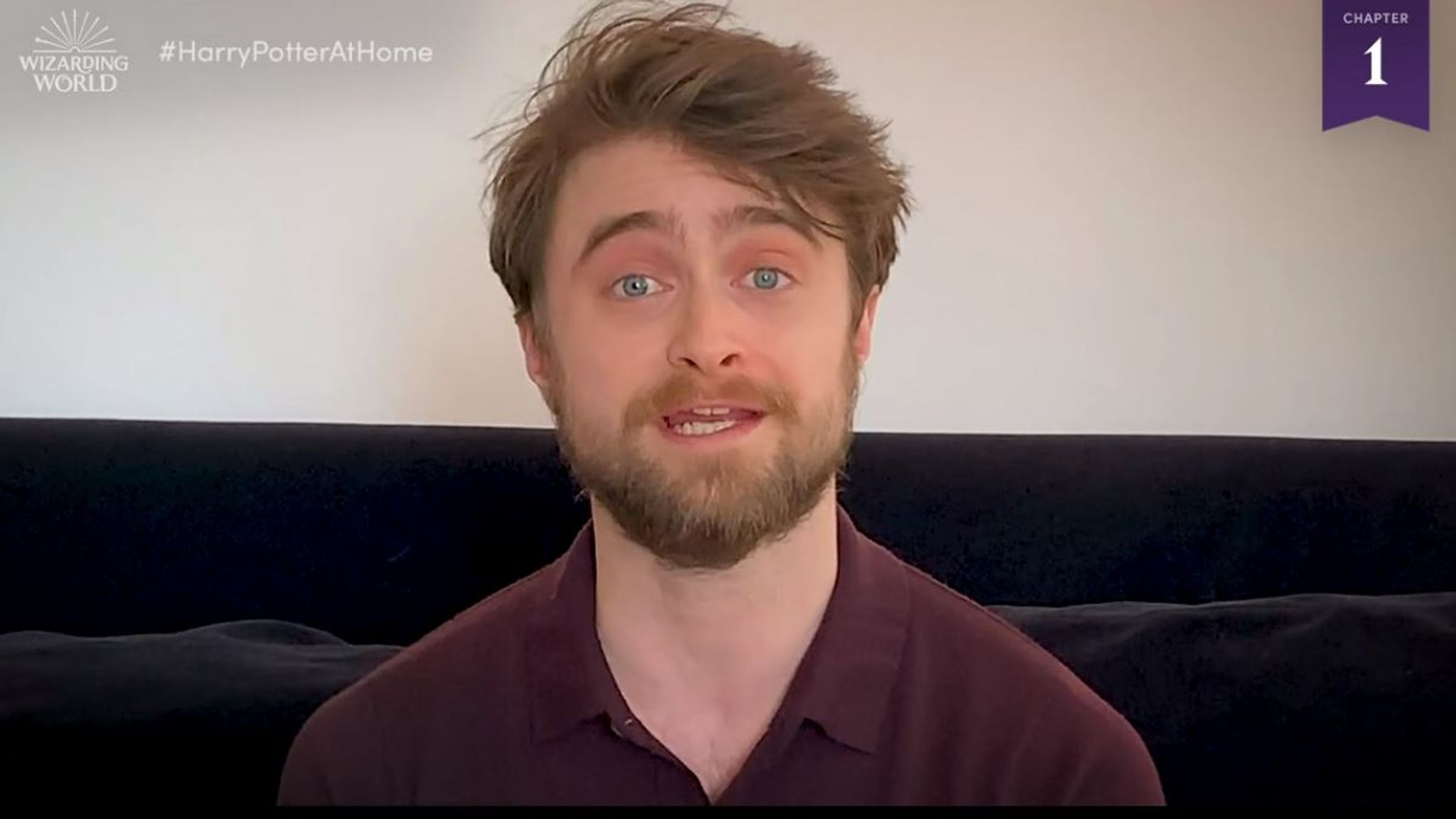 Daniel Radcliffe narrates the first chapter of Harry Potter And The Philosopher's Stone for JK Rowling's Wizarding World online hub
