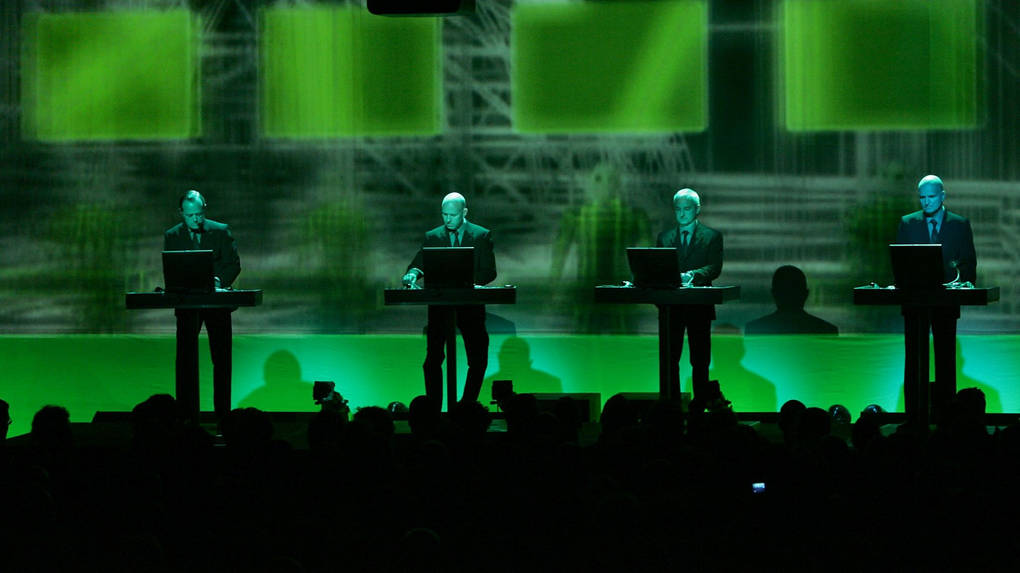 Kraftwerk became known for their distinctive live visuals as well as the music