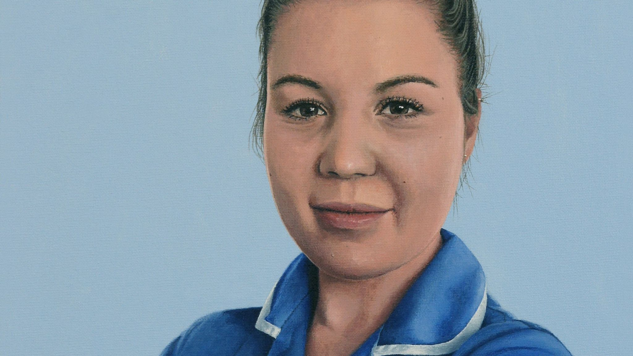 Steph Hedge by Peter Davis, for the NHS Heroes virtual exhibition