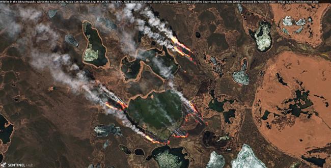 Arctic Wildfire in Siberia