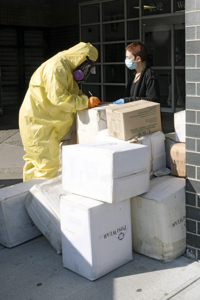 COVID supply delivery, NYC - Shutterstock
