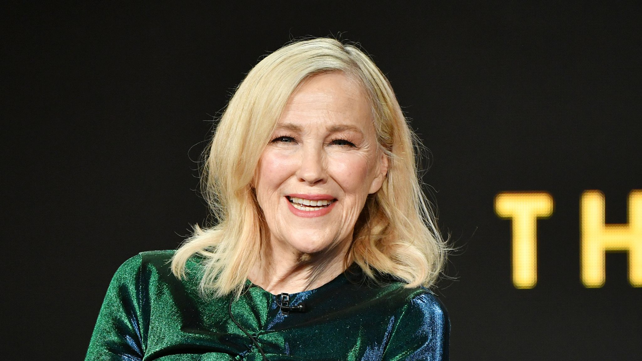 """PASADENA, CALIFORNIA - JANUARY 13: Catherine O'Hara of """"Schitt's Creek"""" speaks during the Pop TV segment of the 2020 Winter TCA Press Tour at The Langham Huntington, Pasadena on January 13, 2020 in Pasadena, California. (Photo by Amy Sussman/Getty Images)"""