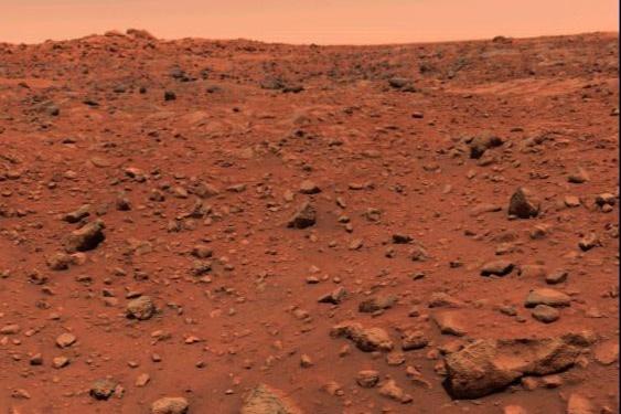 First Photo of Mars, Viking Lander 1976 - NASA