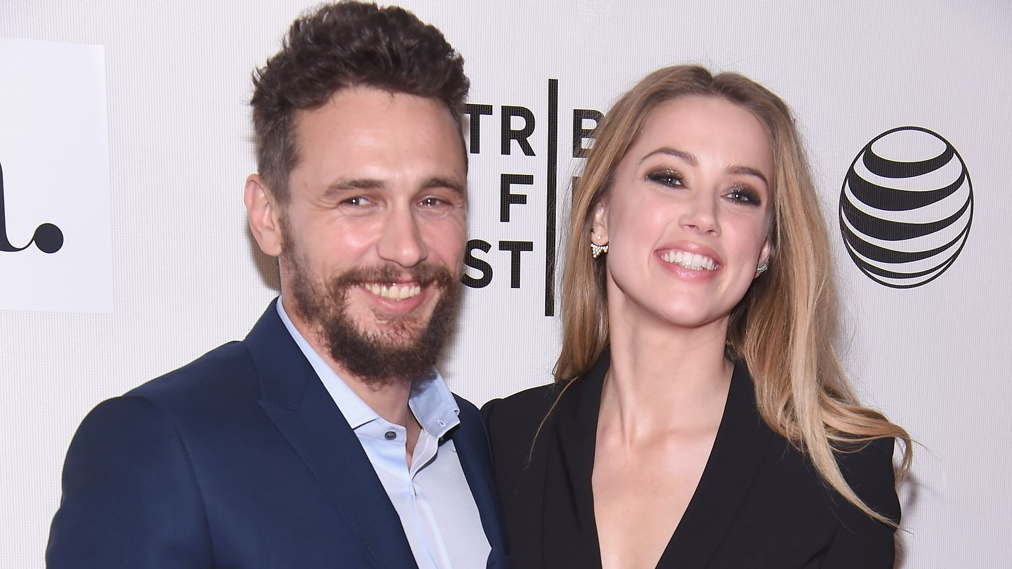 Amber Heard and James Franco at BMCC Tribeca PAC on April 16, 2015 in New York City