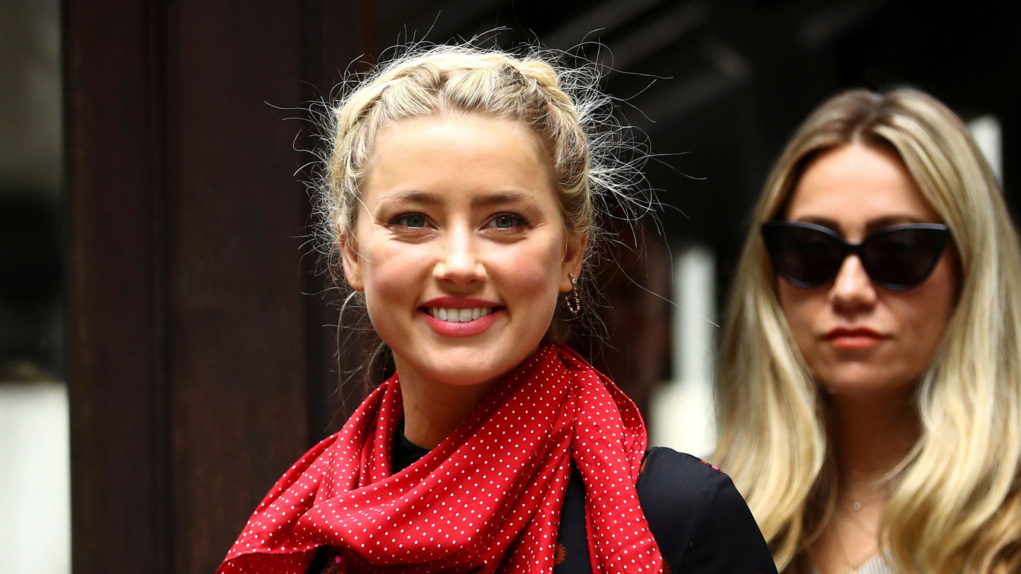 Amber Heard arrives at the High Court on day seven of Johnny Depp's libel action against the publishers of The Sun