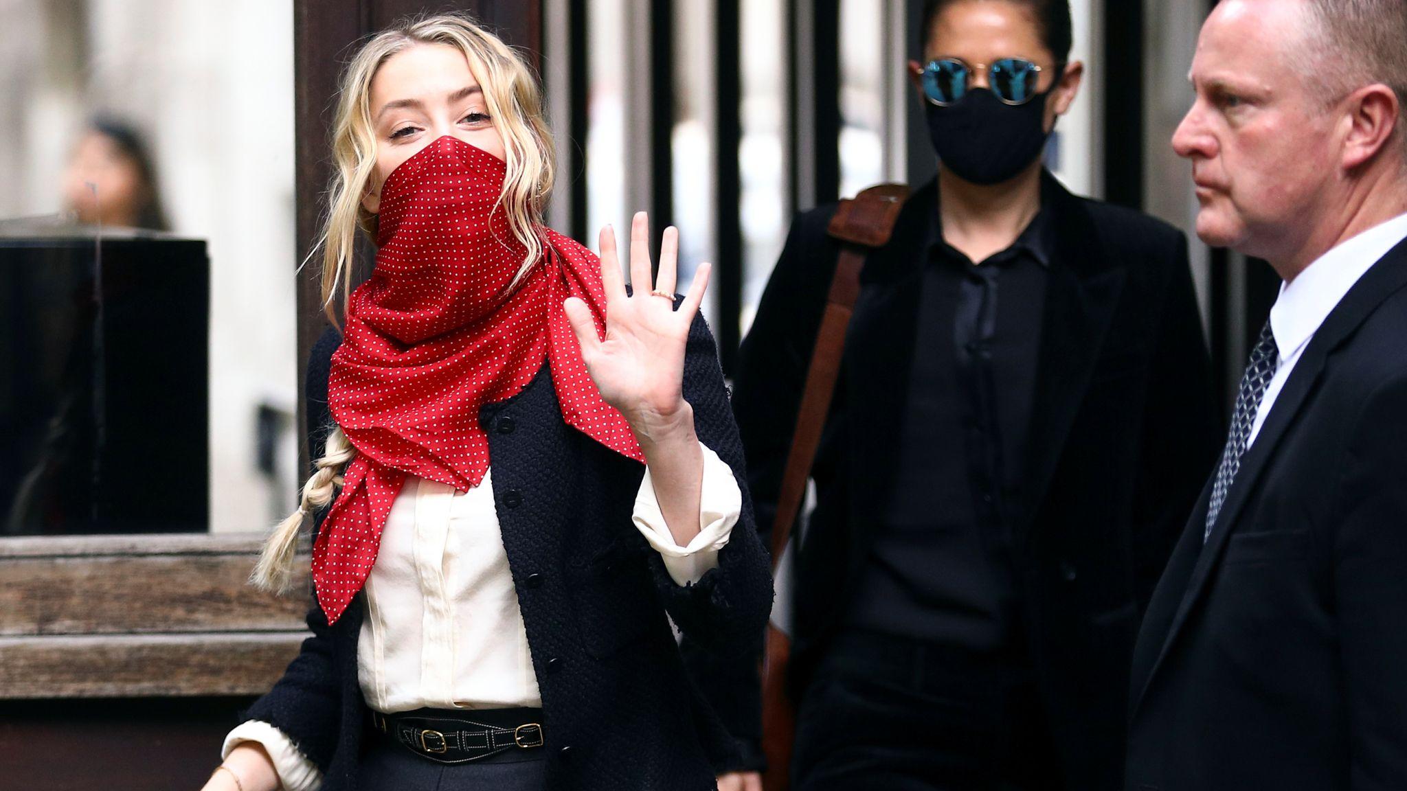 Amber Heard arrives on 17 July