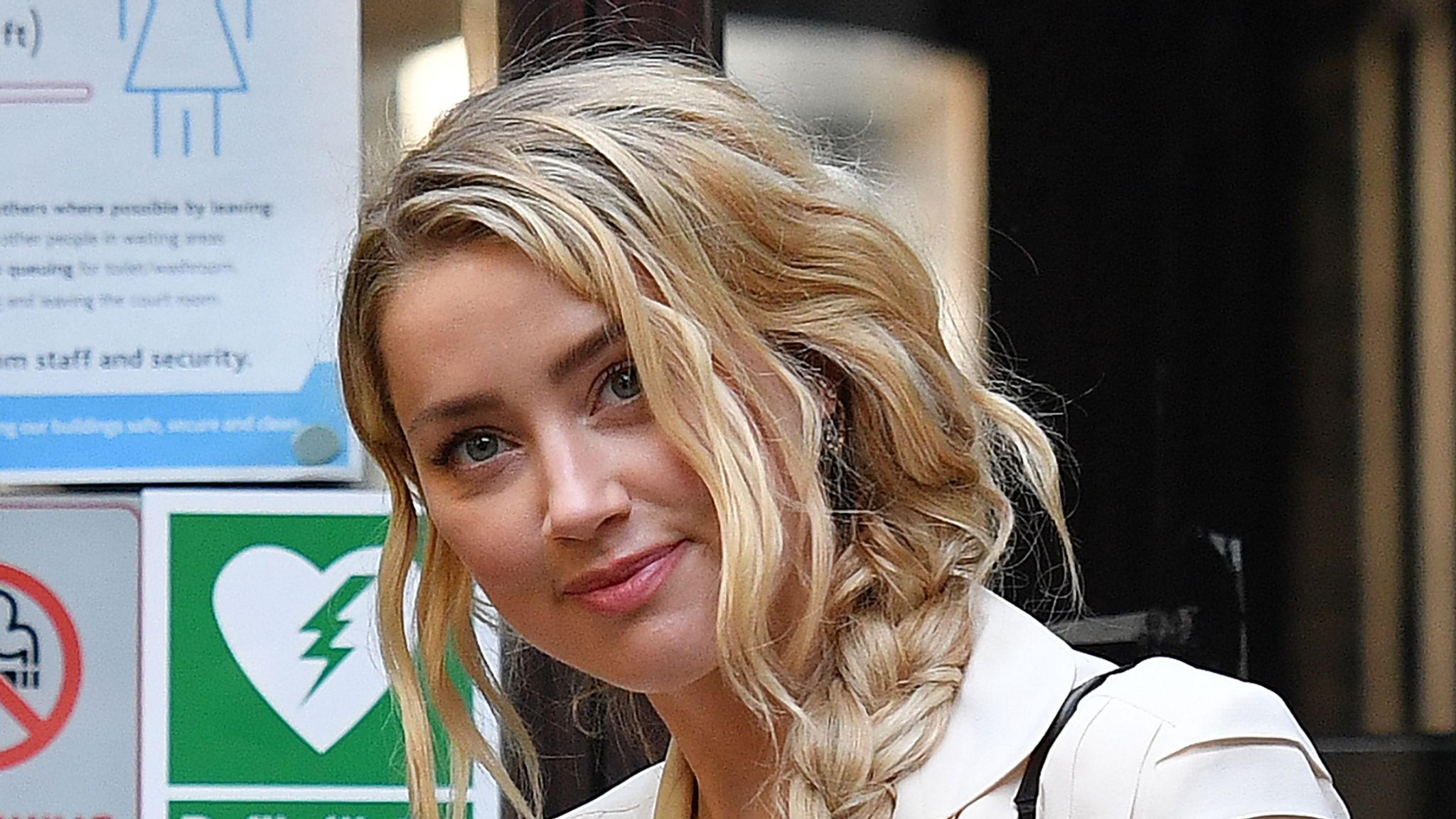 Star witness Amber Heard arrives at the High Court, where she is due to give evidence today