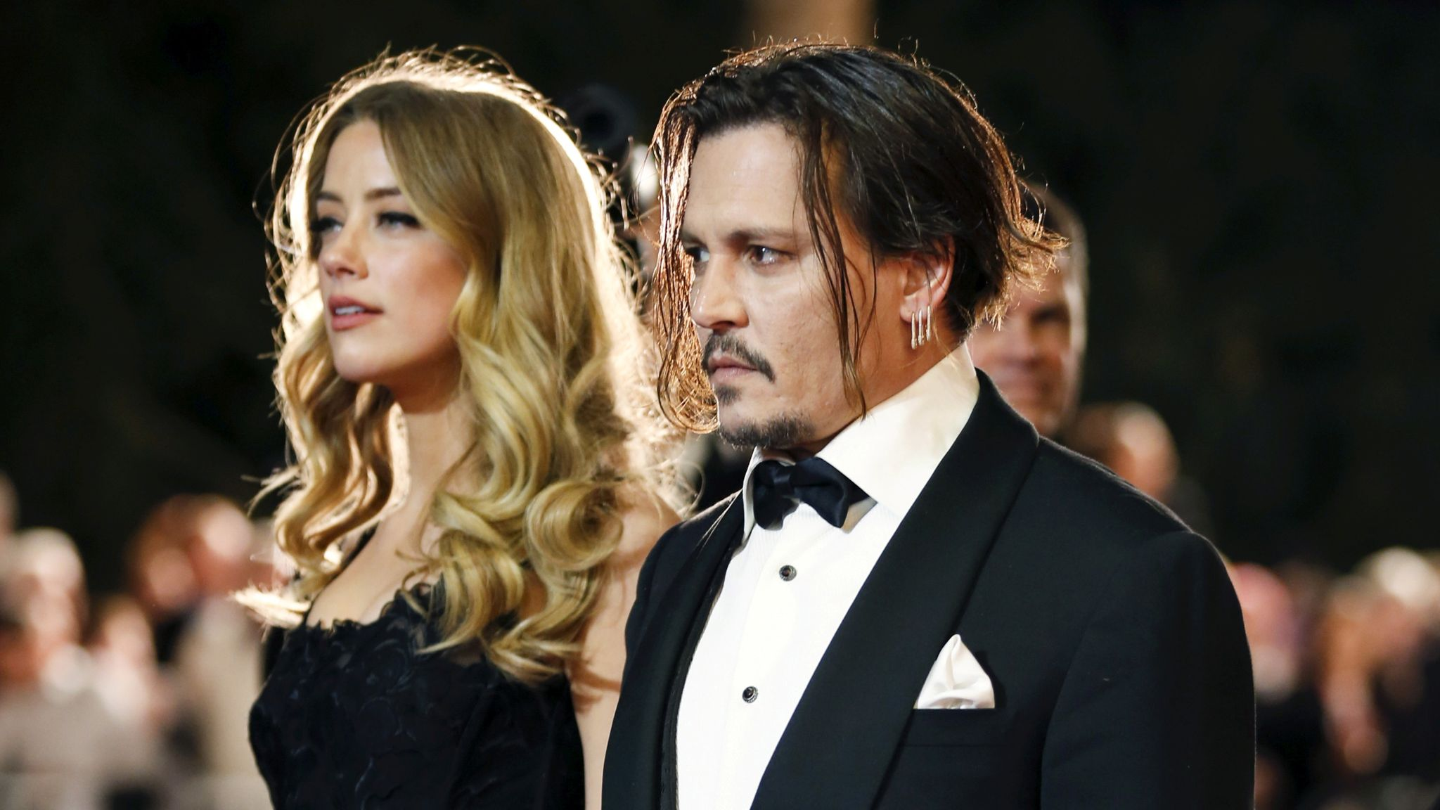 Amber Heard and Johnny Depp when they were together