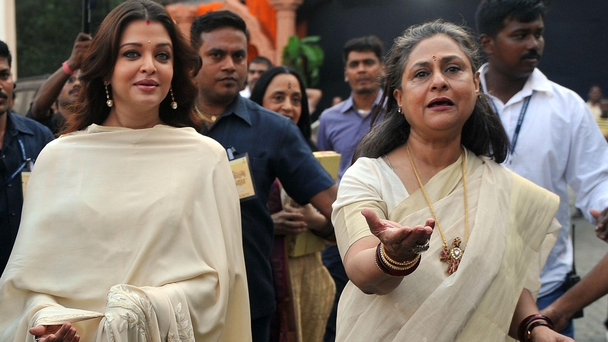 Bollywood actresses Jaya and Aishwarya Bachchan