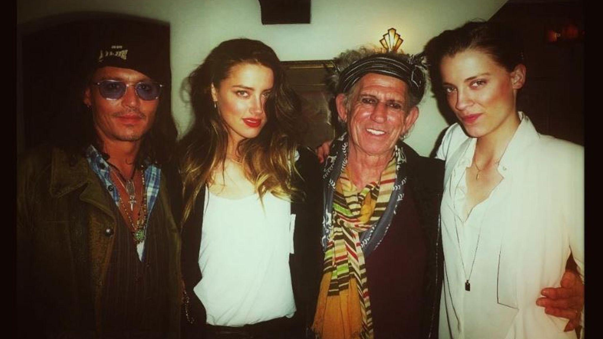 Johnny Depp, Amber Heard, Keith Richards, Whitney Henriquez
